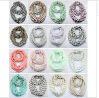 Wholesale Cheap Lace Scarves - 2016 Fashion cheap Chevron Wave Print Scarf Circle Loop Infinity Scarves Women ZigZag Pattern Multi color printing Voile Stripe Ring Scarf