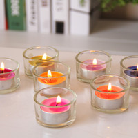 Wholesale Candle Hurricane Lamps Wholesale - Glass Candle Holder Simple Round Tealight Candle Stick Clear Hurricane Lamp For Birthday Party Valentine's day Candlelight Dinner 121-1026