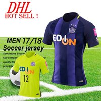 Wholesale Wholesale Thai Quality Soccer Uniforms - DHL-2017 Sanfrecce Hiroshima soccer jersey home custom name number Top thai AAA quality soccer uniform football jersey clothing