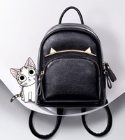 Wholesale Trend Travel School Bag - 2017 New Trend Women Cartoon Cat Backpacks Girls Fashion School Bag High Quality PU Leather Travel Bag Students' Backpacks