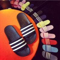 Wholesale Summer Slippers Sale - The shower antiskid slippers in summer Ms indoor stripes that occupy the home sale wholesale cool slippers a variety of color