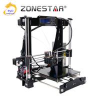 Wholesale Dual Extruder 3d Printer - 3D Printer Dual Extruder Two Color Auto Leveling Reprap Prusa i3 3d printer DIY Kit ZONESTAR P802N or P802NR2
