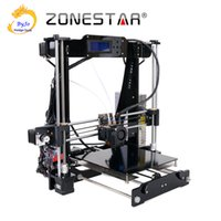 extrusora dupla 3d venda por atacado-Impressora 3D Dupla Extrusora de Duas Cores Auto Nivelamento Reprap Prusa i3 3d impressora DIY Kit ZONESTAR P802N ou P802NR2