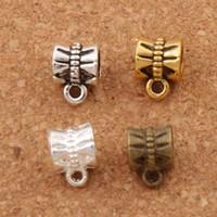 bronz kelebekler toptan satış-Kelebek Konnektörler Kefaletler Boncuk 400 adet / grup 9.6x7.1mm 4 Renkler Antik Gümüş / Bronz / Altın Fit Charm Avrupa Bilezik L692