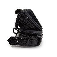 Wholesale tools for bondage - APHRODISIA PU Leather Furry Comfortable Footcuffs Restraints Bondage Tools Flirting Tool For Beginners Sex Toys For Couple