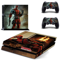 PS4 Console e DualShock 4 Adesivi Decal Sticker Set Deadpool- Decalcomanie Vinile PlayStation 4 (2801) [videogioco]