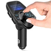 venda de carros da china venda por atacado-2016 China Melhor Venda Mãos Livres Bluetooth Volante Kit de Carro com mp3 player fm transmissor Kit Mãos Livres Bluetooth