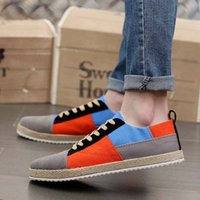 Wholesale Men Cloth Wholesale - 2017 new Men Canvas Shoes Fashion Breathable Man Casual Shoes Solid Color Summer Selling High Quality Man Cloth Shoe Lace-Up Round Toe