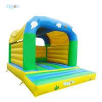 Wholesale Bouncy Castles - Mini Bounce House Inflatable Trampoline For Kids Jumping Castle Air Inflatable Bouncy Castle With Air Blowers