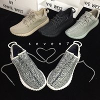 2017 Original Quality Boost 350 Shoes Pirate Black Moonrock Tan White Kanye West 350 Aumenta o tamanho 13 Casual Outdoor Light Running Shoes
