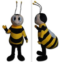 Wholesale Mascot Costumes For Sale - 100% real photo of brand giant honey bee mascot costume suit for adults for sale