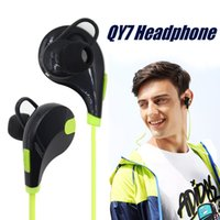 Wholesale Earphones Mic Iphone Retail - In-ear Bluetooth Headphone QCY QY7 Bluetooth 4.0 Stereo Earphone Fashion Sport Running Headsets Studio Music Earphone With Mic In Retail Box