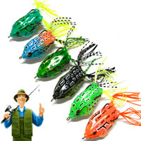 Wholesale Plastic Frog Fishing Lure - 6Pcs Frog lures Iscas Sapo Soft Plastic Fishing Bait With Hook Top Water Artificial Fish Tackle Simulation Bass 5.5CM 12.5G