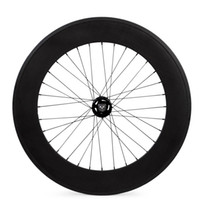 roda de pista de 88mm venda por atacado-Carbono fixo rodas de engrenagem 88 milímetros de profundidade de carbono Rodas 700C Pista rodado 25 milímetros de largura para TT