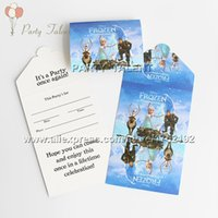 Wholesale Party supplies snow queen Elsa Anna theme party girl birthday party decoration paper invitation card
