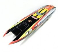 Atacado- Genesis 1122 Catamaran Racing Barco / Electric Brushless RC Boat Fiberglass com 3674 brushless motor KV207, 125A ESC com BEC
