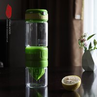 Wholesale Glass cup manual glass fruit vitality cup readily magic bottle cup