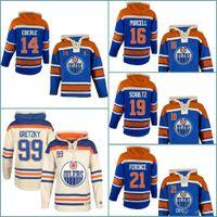 Wholesale Hoodie Teddy - 16 Teddy Purce 19 Justin Schultz #21 Andrew Ference 30 Ben Scrivens 97 Gretzky Mens Edmonton Oilers Hockey Hoodie Stitched Jersey Hoodies