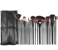 profesyonel makyaj kozmetik fırça seti kiti toptan satış-Profesyonel Makyaj Fırçalar 24 adet 3 Renkler Makyaj Fırça Setleri Kozmetik Fırça Seti Makyaj Fırçalar makyaj için fırça