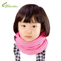 Wholesale New Girls Muffler Styles - Wholesale- Baby Knitting Scarves 5 Colors in Stock 2017 New Style Designer Muffler Brand Scarf Kids Girl Autumn Winter Neck Warmer Gift