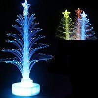 árvore de natal iluminada do brinquedo venda por atacado-Atacado-Natal Xmas Tree Mudança de cores Arranjo de Luz Árvore de Natal Colorido Presente Noite Luminosa Crianças Brinquedos