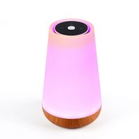 Wholesale Mini Beat Bluetooth - Bluetooth LED Light Speaker S16A Ring Super Mini Portable Beat Hi-Fi Bluetooth Handfree Smart Phone Control the Bulb Color