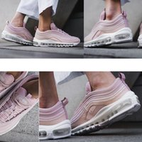 Wholesale Light Edition - Max 97 Mens Low Running Shoes Cushion Men OG Pink Silver Gold Anniversary Edition Sneakers Maxes Sport Athletic Sports Trainers Shoes
