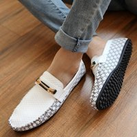 Wholesale Men S White Casual Shoes - 2017 new hot sale Fashion Sneakers Genuine Leather Mens Breathable Driving Shoes Men 's Casual Shoes