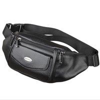 Wholesale Waist Shoulder Belts - New Men Genuine Leather Belt Bum Fanny Pack Waist Bag Vintage Travel Shoulder Messenger Hip Sling Chest Pack