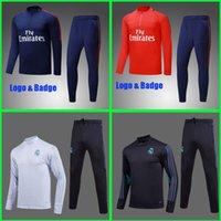 Wholesale Men Jogging Suits - Maillot France Paris Real madrid tracksuit sweater suit jogging suit survetement training suit jacket NEYMAR PSg JR MBAPPE Ronaldo jersey