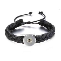 Wholesale Hand Woven Charm Bracelets - High quality 167 hand woven Original Genuine Leather Retro fashion Bracelet Snap Button Jewelry Charm Jewelry For Women(fit 18mm button)