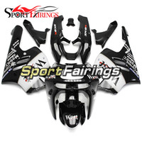 Wholesale 95 Zx9r Fairings - Black White Cowling For Kawasaki ZX-9R 94 95 96 97 ZX9R 1994 1995 1996 1997 Fairings ABS Plastics Motorcycle Fairing Kits ABS Bodywork