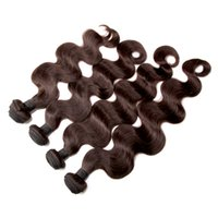 Wholesale Derun Human Weave - 4Pcs Dark Brown Brazilian Virgin Human Hair Extensions Body Wave Hot 8A Unprocessed Remy Hair Weaves Machine Wefts derun hair