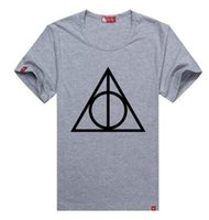 Wholesale Deathly Hollows - deathly hallows part of the young popular recreational circle collar pure cotton short sleeve T-shirt culture sweater clothing