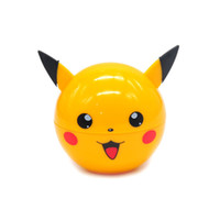 Accessoires Pour Fumer Meuleuses Pas Cher-Pikachu Pokeball Grinder 55mm Poke Ball Cute Herb Grinder Metal Zinc Alloy Yellow Ball Shape Tabac Grinders 3 Pièces Accessoires pour fumeurs