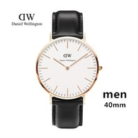 Wholesale Thin Nude Women - New Mens Daniel watches 40mm Men watches 36 Women Watches Luxury Brand Famous Ultra thin Quartz Watch Female Clock Relogio Montre Femme