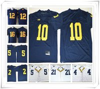 Wholesale yellow peppers - 100 Stitched NCAA Michigan Wolverines Tom College Jerseys Woodson Harbaugh Peppers Howard Jersey FASHION HOT
