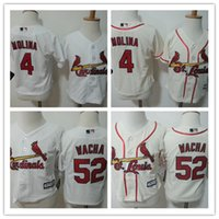 st baby - Toddler St Louis Cardinals Yadier Molina White Home Cool Base Jersey Stitched Preschool Michael Wacha Cardinals Baby jersey T T