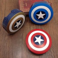 Wholesale Lens Wholesale - 2016 New Captain America Mirrored Contact Lens Case Travel Case Plastic Contact Lens Box Holder Gift