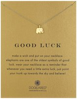 Wholesale Good Luck Elephant - Dogeared Necklace with elephant pendant(good luck elephant), silver and gold color, no fade, free shipping and high quality.
