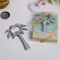 Palm Breeze Chrome Palm Tree Bottle Opener Parts Beach Theme Wedding Souvenirs 50pcs atacado frete grátis