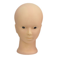 Wholesale Cosmetology Doll Heads - Female Mannequin Head Model Wig Hat Jewelry Display Cosmetology Manikin Hairdressing Doll Women Hairdresser Sent Randomly For Makeup + Clamp