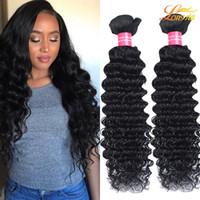 königinnen haar produkte großhandel-Malaysische tiefe Welle Queens Hair Products 100% unverarbeitete Menschenhaar-Erweiterungen färbbares menschliches Haar spinnt große Qualität Großhandelspreis
