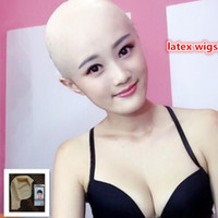 Wholesale cosplay silicone mask - New human mask crossdress silicone female unisex head mask halloween cosplay without hair latex bareheaded monk head mask free shipping