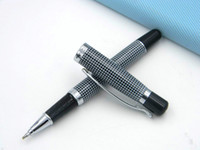 Wholesale roller clips metal - Classic M230 Chessboars Silver Clip Roller ball Pen
