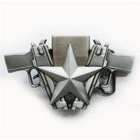 Wholesale Lighter Stars - New Vintage Guns Star Lighter Belt Buckle Gurtelschnalle Boucle de ceinture BUCKLE-LT018AS Brand New Free Shipping