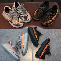 Wholesale Wholesale Shoe Stretch - Baby kids shoes Girls Comfort Running boys Shoes toddler shoes Kanye West Season 3 SPLY 350 Boost V2 Orange 350 Boost fashion New A502