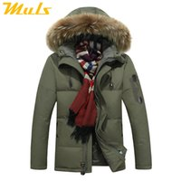 Wholesale Embroidery Fur Coat - Wholesale- Down jacket men faux fur coat Casual Men Fur Hood Winter Jacket Windproof Thick Winter Brand-clothing Outerwear Men Parkas 8232