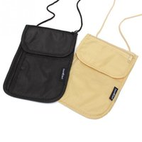 Wholesale Fashion Wallets Women Nylon Polyester Money Purse Neck Purse Travel Storage Bag Cards Passport Holder Neck Tickets Bag Pouch