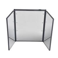 levou luz de bolso venda por atacado-Tri Fold Ajustável Led Iluminado Espelho de Viagem 8 LEDs Tela de Toque Espelho de Maquiagem Compacto Espelho de Bolso para Beleza Maquiagem